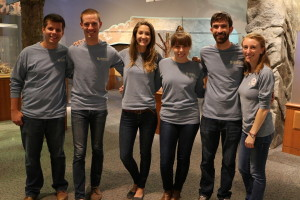 group of people in gray shirts