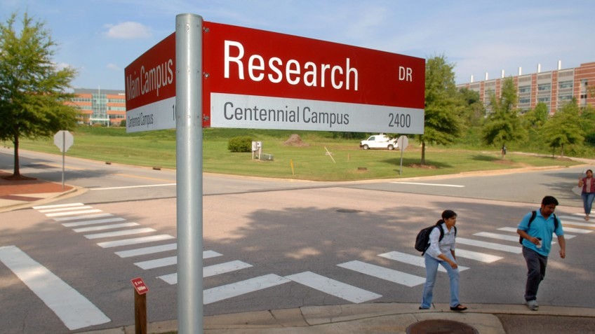 research dr. sign, centennial campus