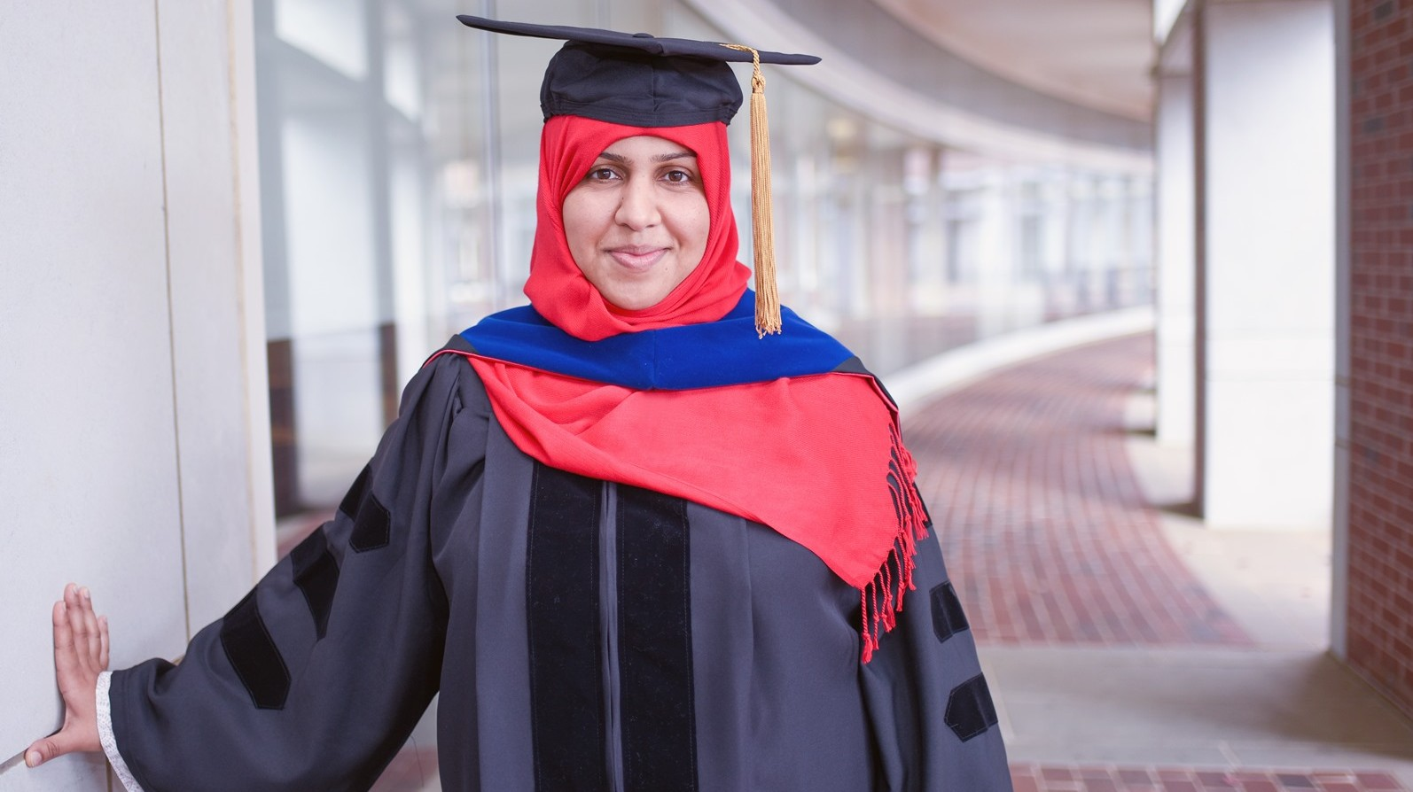 Al-Mohsin in commencement robe