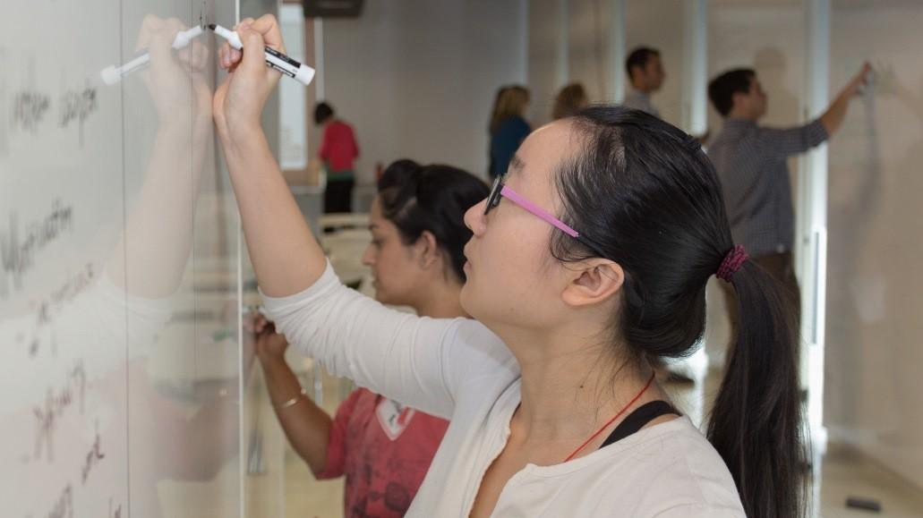 students work at Dissertation Institute
