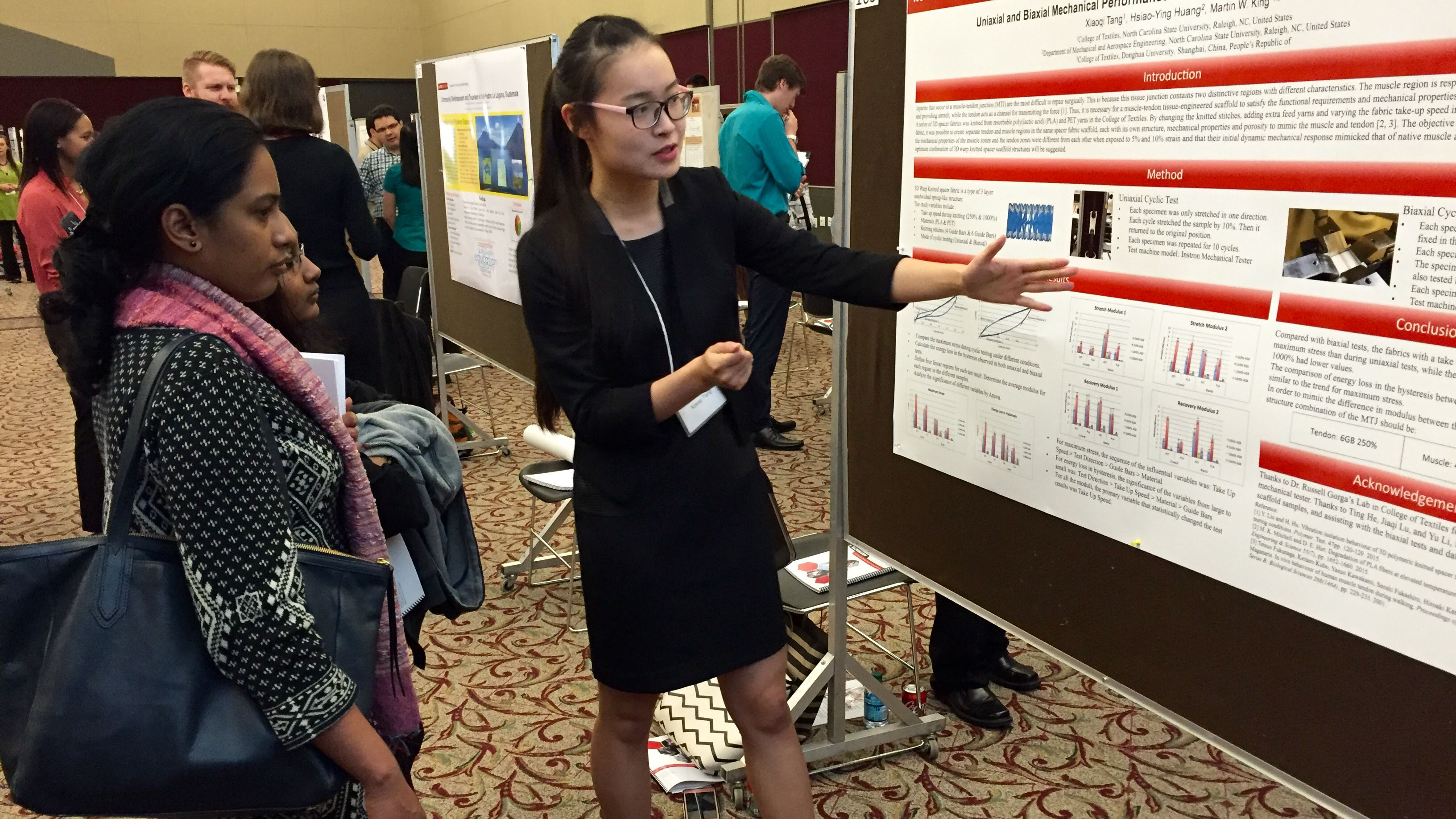Xiaoqi Tang presents her poster at the 2016 Graduate Student Research Symposium
