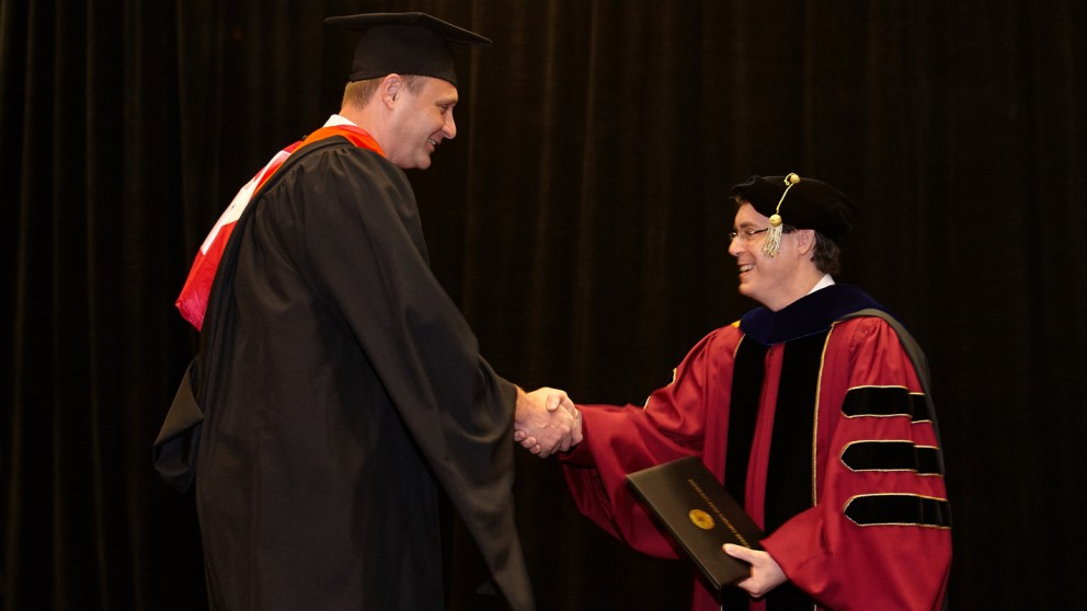 Fuller at commencement