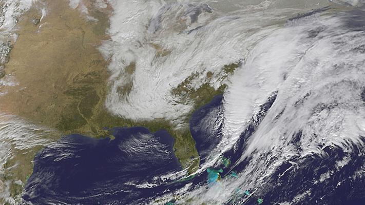 image of storm off SE coast