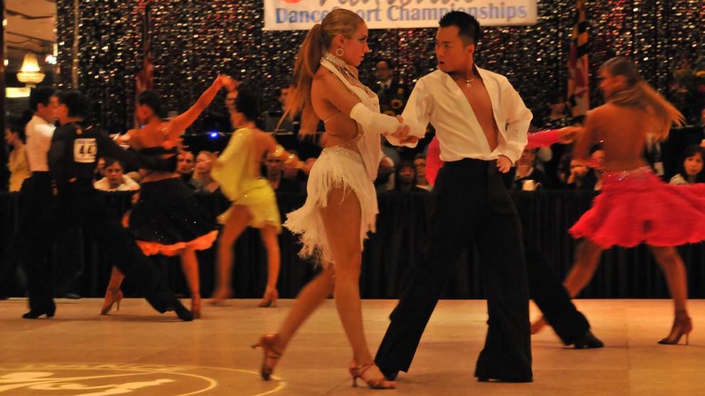 Scott Vu and partner dancing