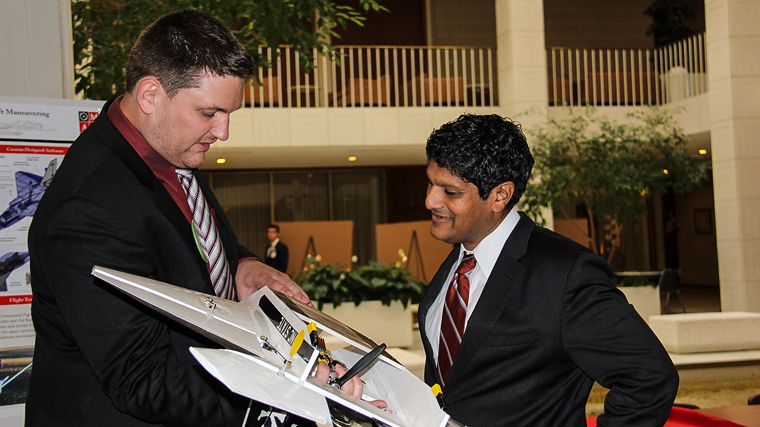 Pearce and Chaudhuri with model plane