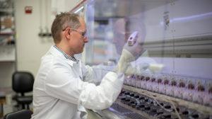 Dane Grismer working in his KBI lab