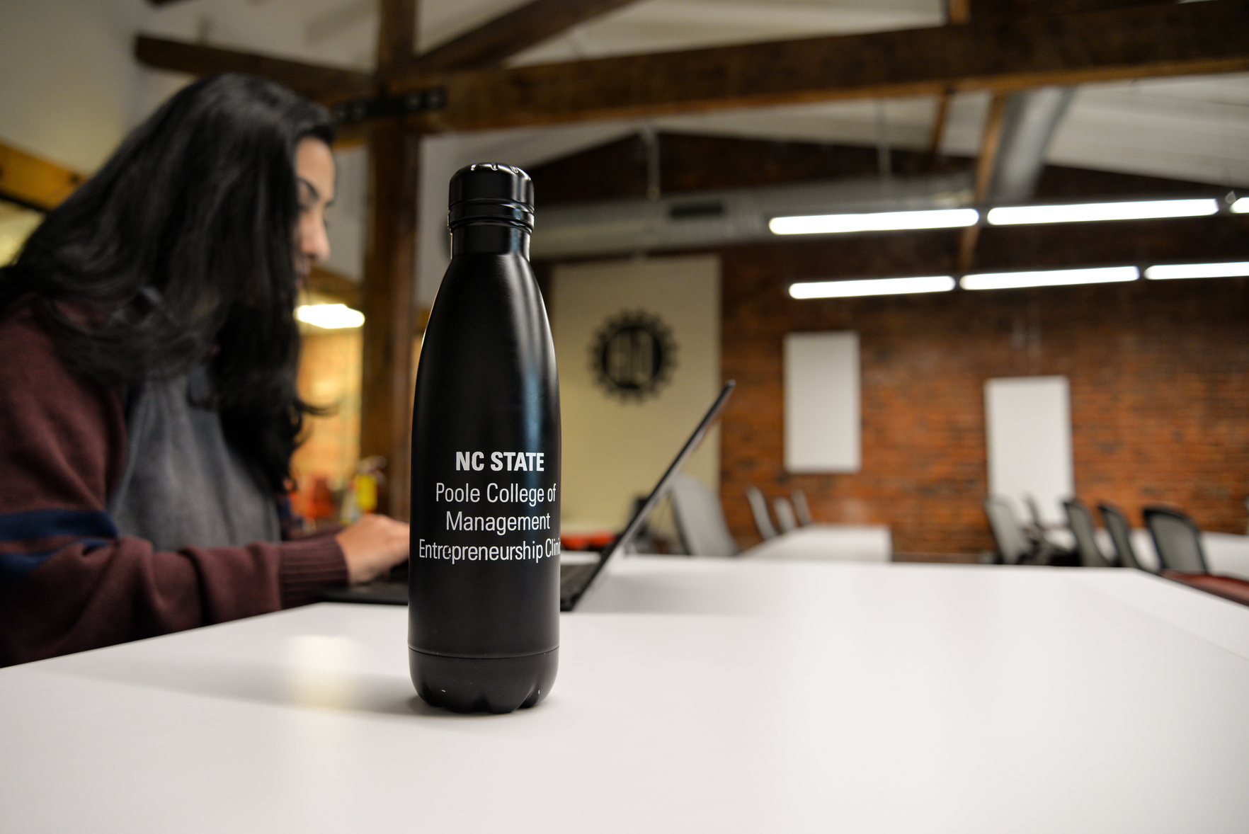Poole College of Management E-Clinic Water bottle