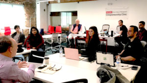 meeting of Poole College of Management E-Clinic