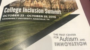 College Inclusion Summit Flyer: The Frist Center for Autism and Innovation