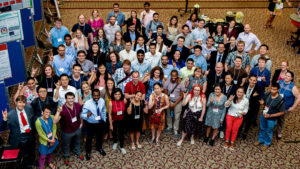 2019 Postdoc Research Symposium group photo from above