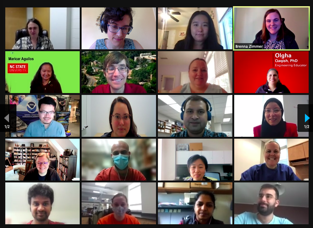 Zoom screenshot of PRS 2021 workshop participants