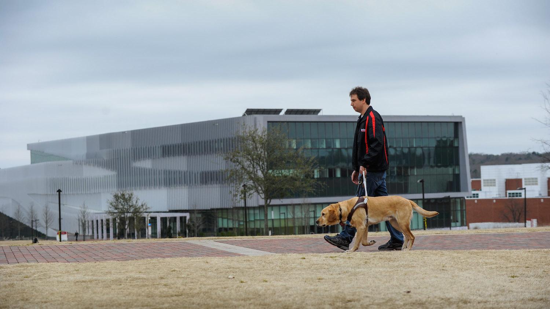 Sean Mealin and his dog Simba